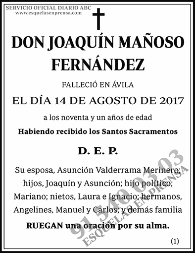 Joaquín Mañoso Fernández